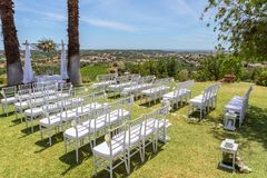 A scene for wedding ceremony. In nature. A scene for the wedding ceremony. In nature Royalty Free Stock Photography