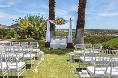 A scene for wedding ceremony. In nature. A scene for the wedding ceremony. In nature Royalty Free Stock Image