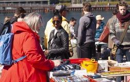 Scene from weekend flea market. Shopping objects at flea market is a popular hobby. Stock Image. Scene from weekend flea market. Shopping objects at flea market stock photo