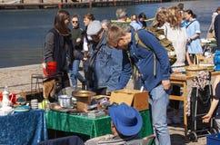 Scene from weekend flea market. Shopping objects at flea market is a popular hobby. Stock Image. Scene from weekend flea market. Shopping objects at flea market stock photography