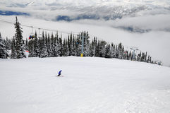 Scene at Whistler-Blackcomb ski resort Royalty Free Stock Images