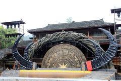 The scene of Xijiang Miao minority village Stock Photo