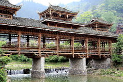 The scene of Xijiang Miao minority village Stock Images