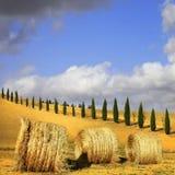 Scenec Tuscany Italienska liggande royaltyfri bild