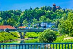 Scener colorido en Karlovac, Croacia imagenes de archivo