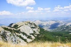 Sceneray av den Lovcen nationalparken, Cetinje, Montenegro Arkivbilder