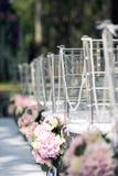 Sceneria dla ślubnej rejestraci outdoors Zdjęcia Stock