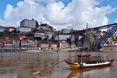 Sceneria Douro rzeką, Porto Zdjęcie Royalty Free