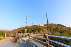 Sceneria Hwangnyeongsan halny szczyt Zdjęcie Stock