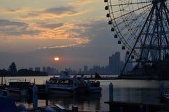 Sceneria Jinji jezioro przy Suzhou, Chiny Zdjęcie Royalty Free