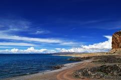 Sceneria kategorie: Namtso jezioro w Tybet Zdjęcie Stock