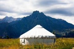 Sceneria kategorie: Shawan poroże kazach Podpalane jurty Zdjęcie Royalty Free