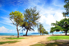 sceneria plażowa tropikalna Fotografia Stock