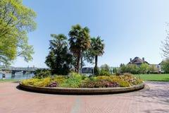 Sceneria Tom McCall nabrzeża park w w centrum Portland Zdjęcie Royalty Free