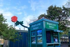Sceneria Tom McCall nabrzeża park w w centrum Portland Obrazy Royalty Free