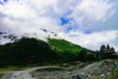 Sceneria w xizang turystyki przejażdżki drogi górze Zdjęcia Royalty Free