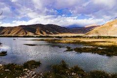Sceneria w xizang turystyki przejażdżki drogowym Halnym zwrocie 72 Fotografia Royalty Free