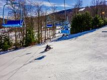 Sceneria wokoło timberline ośrodka narciarskiego zachodni Virginia Fotografia Royalty Free