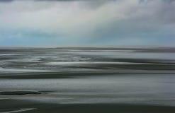 Sceneria wokoło Mont saint michel opactwa w Niskim Normandy obrazy royalty free