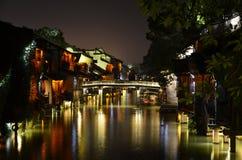 Sceneria Wuzhen antyczny miasteczko przy Zhejiang, Chiny Zdjęcie Royalty Free