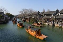 Sceneria Wuzhen miasteczko w Zhejiang, Chiny zdjęcia stock