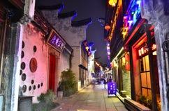 Sceneria Yuehe antyczny miasteczko przy Jiaxing, Chiny Obrazy Royalty Free