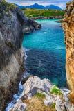 sceneria z oceanu brzeg w Asturias, Hiszpania Zdjęcia Stock