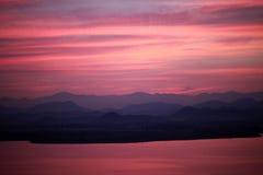 Sceneria Zachodni jezioro Zdjęcia Royalty Free