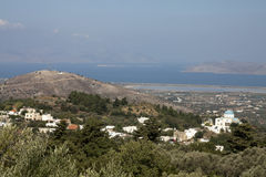 Sceneric view from Zia, kos Royalty Free Stock Photos
