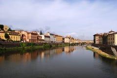 Scenerii Florencja rzeczny miasto Włochy Fotografia Stock