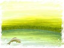 scenerii jeziorny lato royalty ilustracja