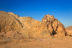 Scenery of the african desert Royalty Free Stock Photography