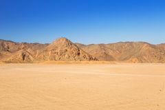 Scenery of the african desert. In Egypt Stock Photos