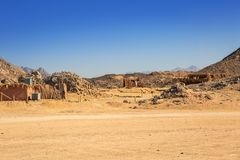 Scenery of the african desert. In Egypt Stock Images
