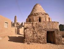 Scenery of Al-Qasr with minaret, Dakhla Oasis in Egypt Stock Photography