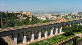 Scenery of the Alhambra and Granada Stock Image