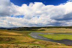 The scenery along the Yellowstone River Royalty Free Stock Images