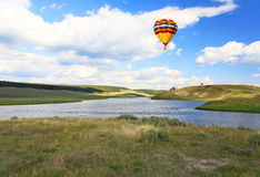 The scenery along the Yellowstone River Stock Photography