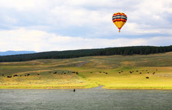 The scenery along the Yellowstone River Stock Photos