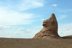 Scenery of an ancient castle like Sphinx Royalty Free Stock Images
