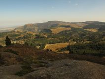 Scenery around Hogsback taken from the unnamed hill in early spring, South Africa Royalty Free Stock Images