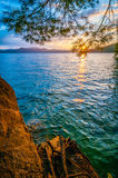 Scenery around lake jocasse gorge Royalty Free Stock Photo