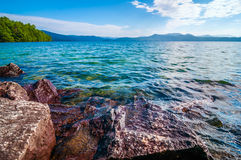 Scenery around lake jocasse gorge Royalty Free Stock Photography
