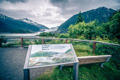 Scenery around mendenhall glacier park in juneau alaska royalty free stock photos