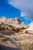 The scenery of the Badlands (also known as the White Hills) in S Stock Photography