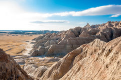 The scenery of the Badlands (also known as the White Hills) in S Stock Photo