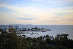 Scenery of Bang Saen beach Royalty Free Stock Photography