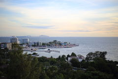 Scenery of Bang Saen beach Royalty Free Stock Images
