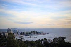 Scenery of Bang Saen beach Royalty Free Stock Photos