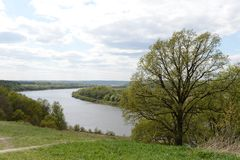 The scenery on the banks of the Oka. Royalty Free Stock Image